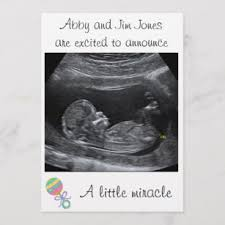 Pregnancy Announcement Printables A Little Miracle Pregnancy Announcement