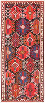 vintage turkish kilim rug 50421 detail large view