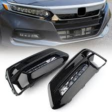 2005 Honda Accord Heated Seat Light Bulb Details About Led Front Bumper Fog Light Drl Cover Wire Assembly Fit Honda Accord 2018 2019