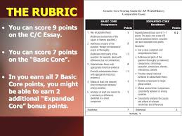 "writing a ""killer"" compare contrast essay ppt video online  the rubric you can score 9 points on the c c essay"
