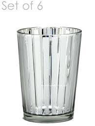 mercury glass candle holders destiny medium set of 6 3 silver votives uk votive holder stripe silver mercury
