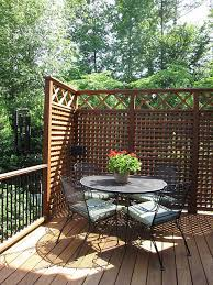 wooden lattice panels for outdoor privacy screen