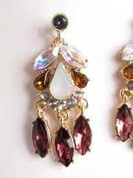 plum crystal rhinestone chandelier earrings plum color crystal chandelier earrings