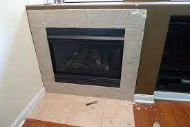 perfect tile around fireplace
