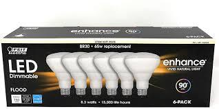 Enhance Vivid Natural Light 75 Watt Feit 65w Equivalent Soft White Br30 Dimmable Enhance Led Light Bulb 6 Pack