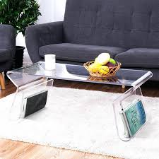 clear acrylic coffee table one waterfall large tea perspex side in tables from furniture on