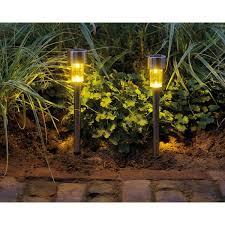 led solar stainless steel garden stake
