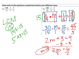 showme solving multi step equations algebra fractions with 2 worksheet pdf last thumb13801 equations with fractions