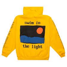 Swim In The Light Kid Cudi Swim In The Light Hoodie Yellow Hoodie Kid Cudi Hoodies
