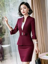 lady <b>office</b> uniform _Global selection of {keyword} in Skirt Suits on ...