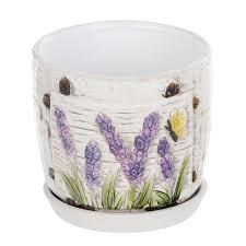 <b>Горшок цветочный</b> с поддоном <b>Dehua ceramic</b> гортензия d12 ...