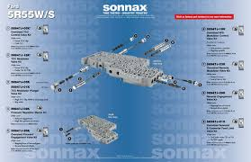 valve body layouts sonnax ford 5r55w s valve body layout · 5r55w · 5r55s