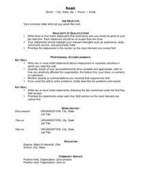 jobstar resume guide template for functional resumes clinical dietitian resume