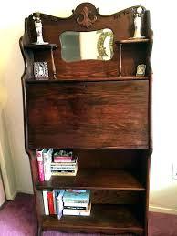 bookcase secretary desk bookcase antique drop front with se