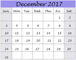 December 2017 Printable Calendar Excel Word Pdf Calendar 2018
