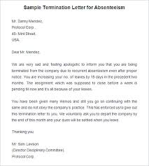 Termination Letter No Call No Show 17 Termination Letter Template
