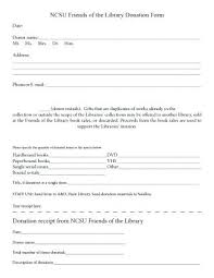 Free Donation Receipt Template Form Forms In Kind Gift