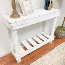 standard rectangle wood console table