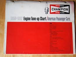 Vintage Original 1958 1967 Champion Spark Plug Engine Tune
