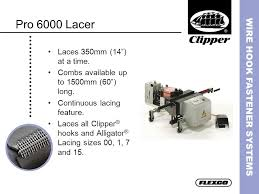 Clipper Lacing Chart Wire Hook Fastener Systems Ppt Video Online Download