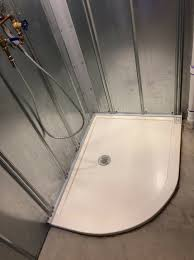 custom drain location solid surface shower pan innovate building solutions solidsurfacebase customshowerbase