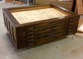 Industrial Fan Coffee Table Vintage Cole Steel Blueprint Cabinet Map Drawer Industrial Coffee
