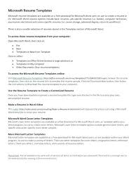 Microsoft Office Online Resume Templates Resume Example Collection