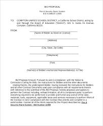 Sample Bid Proposal Template Sample Bid Proposal 11 Documents In Pdf Word