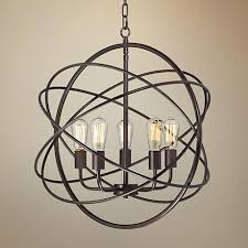 bronze orb chandelier 3 4 wide led 5 light sphere pendant lamps plus brown antique bronze orb chandelier