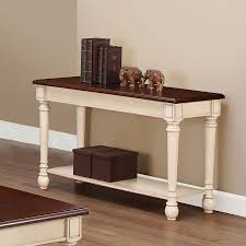 coaster furniture dark brown antique white wood sofa table the classy home
