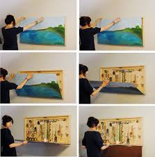 diy jewelry box behind a painting diy do it yourself cool ideas