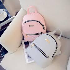 Fashion <b>Women</b> Leather <b>Backpacks Travel Rucksack Handbags</b> ...