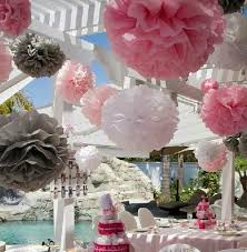 Tissue Balls Party Decorations 100 Available Paper Ponpon Rose Ball Garlands Party Decorations 74