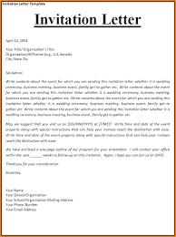 sample invitation letter for visa packed sample invitation  sample invitation
