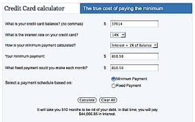 Calculator Credit Card Payment Credit Card Payment Calculator With Interest Magdalene