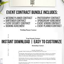 Event Planning Services Agreement 8 Piece Event Planning Contract Template
