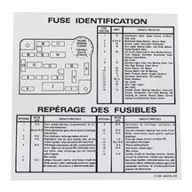 mustang fuse box id decals lmr com mustang fuse box id decals