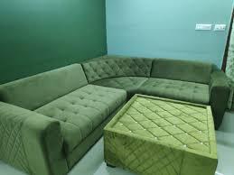 modern green velvet sofa set living