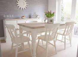 pine dining table set. shabby chic solid pine farmhouse table and 6 chairs painted in annie sloan dining set