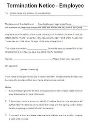B Notice Template Word Employee Termination Letter Sample Job ...