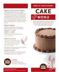 Andovers Cake Menu Whole Foods Market