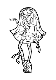 Small Picture Beautiful Cleo de Nile in Monster High Coloring Page Color Luna