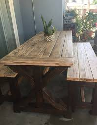 rustic patio table outdoor dining
