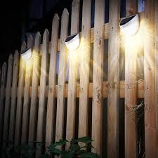 diy litom solar lights garden outdoor fence semi circle post lighting waterproof for walkways posts