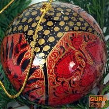 Upcyceling Weihnachtskugel Aus Pappmachee Handbemalter Christbaumschmuck Kaschmirkugeln Muster 5