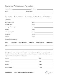 Staff Evaluation Template Form How To Create Employee Sample ...