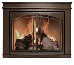 pleasant hearth fn 5700 fenwick fireplace glass door oil rubbed bronze small