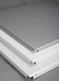 sqaure clip in snap in aluminum false ceiling tiles metal suspended ceiling panels