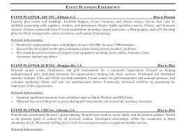 Event Planner Resume Securityguard Event Resume Sample Template Marketing Coordinator 41