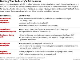break your industry s bottlenecks r1507h ersek burstingbottlenecks ratliff s team came up 50 ideas about how to